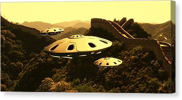 Great China Ufo By Raphael Terra Canvas Print