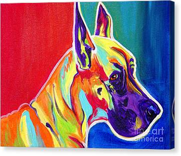 Great Dane - Rainbow Dane Canvas Print by Alicia VanNoy Call