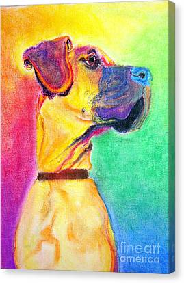 Great Dane - Rapture Canvas Print by Alicia VanNoy Call