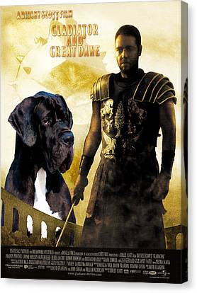 Great Dane Art Canvas Print - Gladiator Movie Poster Canvas Print by Sandra Sij