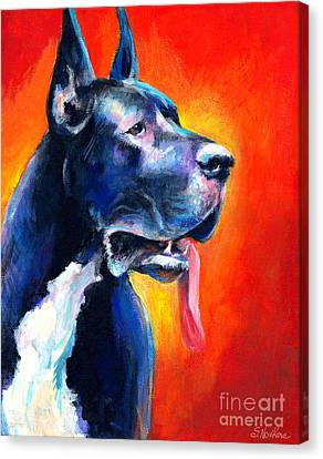 Great Dane Dog Portrait Canvas Print