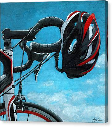 Great Day - Bicycle Oil Painting Canvas Print