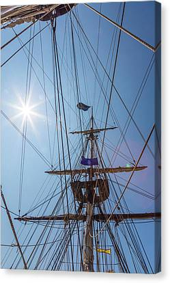 Canvas Print featuring the photograph Great Day To Sail A Tall Ship by Dale Kincaid