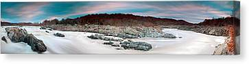 Great Falls Apres Sandy Canvas Print