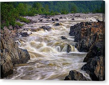 Great Falls Park Canvas Print - Great Falls Of The Potomac River by Rick Berk