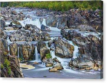 Great Falls Park Canvas Print - Great Falls Park, Virginia, Usa by Henk Meijer Photography
