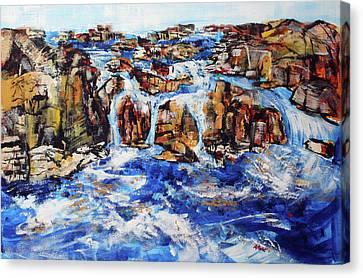 Great Falls Waterfall 201753 Canvas Print by Alyse Radenovic