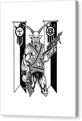 Horror Fantasy Movies Canvas Print - Great Goat War by Alaric Barca