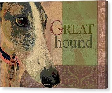 Great Greyhound Canvas Print by Wendy Presseisen