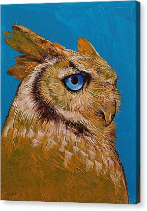 Gold Owl Canvas Print