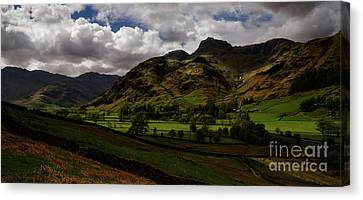Great Langdale Valley Canvas Print by John Collier