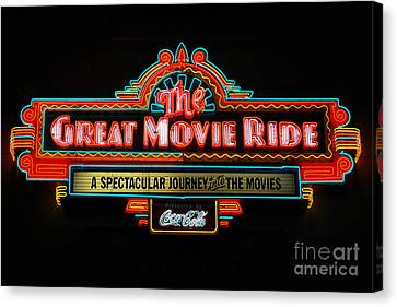 Great Movie Ride Neon Sign Hollywood Studios Walt Disney World Prints Canvas Print by Shawn O'Brien