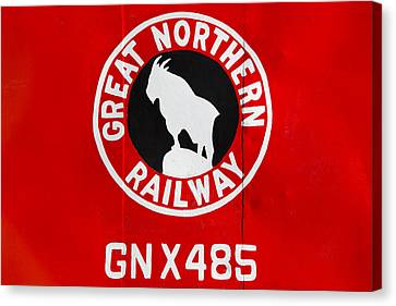Great Northern Caboose Canvas Print