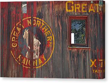 Great Northern Railway Old Boxcar Canvas Print by Bruce Gourley