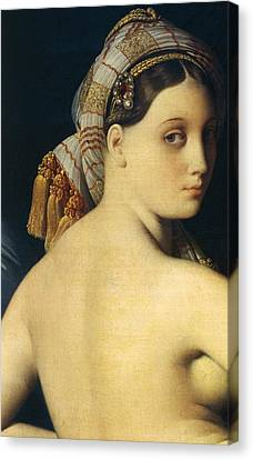 Bare Shoulder Canvas Print - Great Odalisque by Ingres