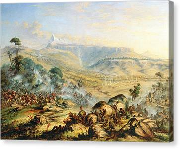 Great Peak Of The Amatola-british-kaffraria  Canvas Print by Thomas Baines