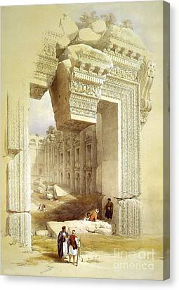 Great Portal, Temple Of Bacchus Canvas Print by Science Source
