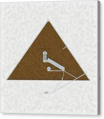 Great Pyramid By Pierre Blanchard Canvas Print by Pierre Blanchard