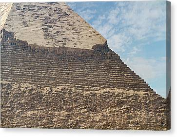 Canvas Print featuring the photograph Great Pyramid Of Giza by Silvia Bruno