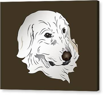 Great Pyrenees Dog Canvas Print by MM Anderson