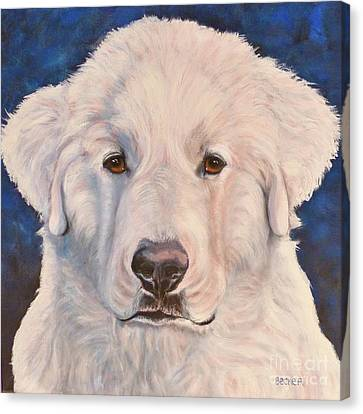 Great Pyrenees Canvas Print by Susan A Becker