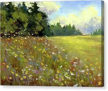 Great Salt Bay Meadows Canvas Print by Mary Byrom