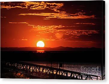 Great Salt Lake Sunset Canvas Print