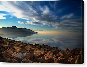 Great Salt Lake Utah Canvas Print by Utah Images