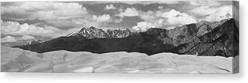 Great Sand Dunes Panorama 1 Bw Canvas Print by James BO  Insogna
