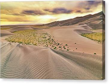 Canvas Print featuring the photograph Great Sand Dunes Sunset - Colorado - Landscape by Jason Politte