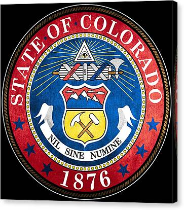 Great Seal Of The State Of Colorado Canvas Print by Mountain Dreams