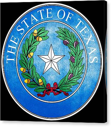 Great Seal Of The State Of Texas Canvas Print by Fry1989