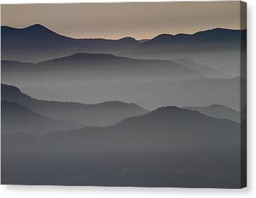 Great Smokey Mountains Shrouded In Fog Canvas Print by Jetson Nguyen