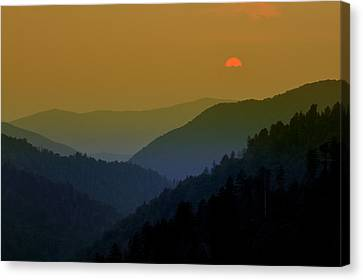 Great Smoky Mountain Sunset Canvas Print by Thomas Schoeller