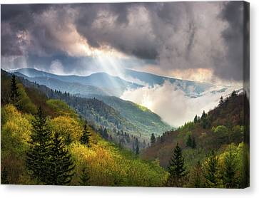 Great Smoky Mountains National Park Scenic Landscape Gatlinburg Tn Canvas Print by Dave Allen
