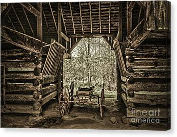 Tennessee Historic Site Canvas Print - Great Smoky Mountains National Park, Tennessee - Broken Wagon. Cades Cove by Stefano Senise