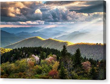 Smoky Canvas Print - Great Smoky Mountains National Park - The Ridge by Dave Allen
