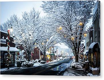 Great Smoky Mountains Nc Winter In Waynesville Canvas Print