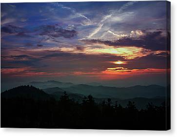 Canvas Print featuring the photograph Great Smoky Sunsets by Jessica Brawley