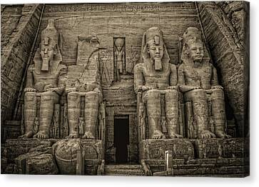 Great Temple Abu Simbel  Canvas Print by Nigel Fletcher-Jones