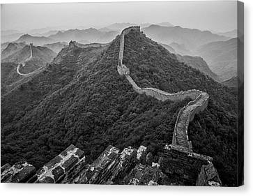 Canvas Print featuring the photograph Great Wall 2, Jinshanling, 2016 by Hitendra SINKAR