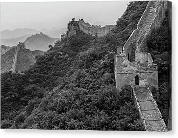 Canvas Print featuring the photograph Great Wall 3, Jinshanling, 2016 by Hitendra SINKAR