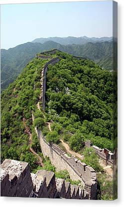 Beijing Canvas Print - Great Wall Of China by Natalia Wrzask
