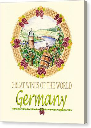 Great Wines Of The World - Germany Canvas Print by John Keaton