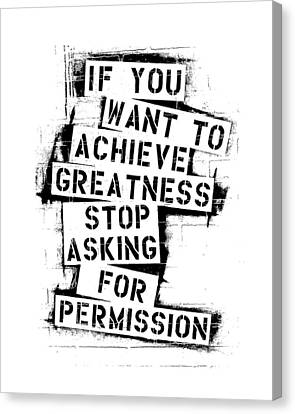 Gallery Wrap Canvas Print - Greatness Stencil by Melissa Smith