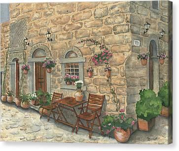 Grecian Charm Canvas Print by Marsha Elliott