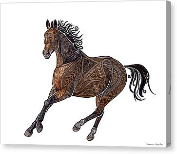 Grecian Horse Canvas Print by ZH Field