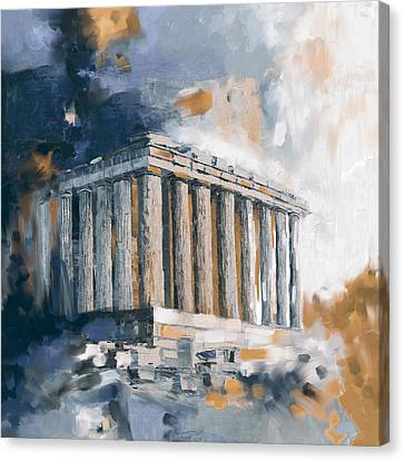 Greece Acropolis 169 3  Canvas Print by Mawra Tahreem