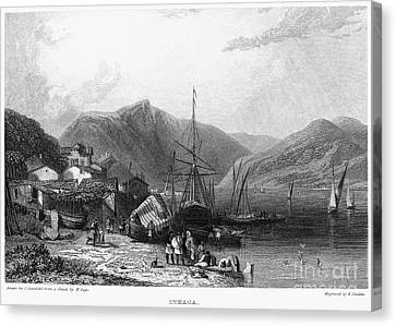 Greece: Ithaca, 1832 Canvas Print by Granger