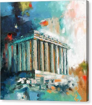 Greece Temple Acropolis 169 2  Canvas Print by Mawra Tahreem